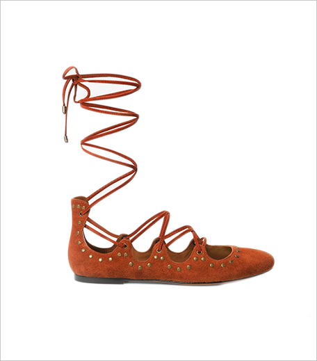 Mango LACE-UP SUEDE BALLERINA_Hauterfly