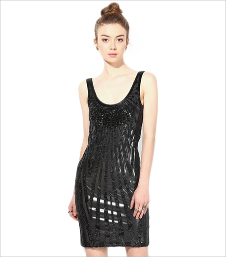 Miss Selfridges Black Colored Embellished Bodycon Dress Jabong_Hauterfly
