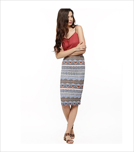 NEW LOOK Tribal Print Pencil Skirt Shachi Hauterfly