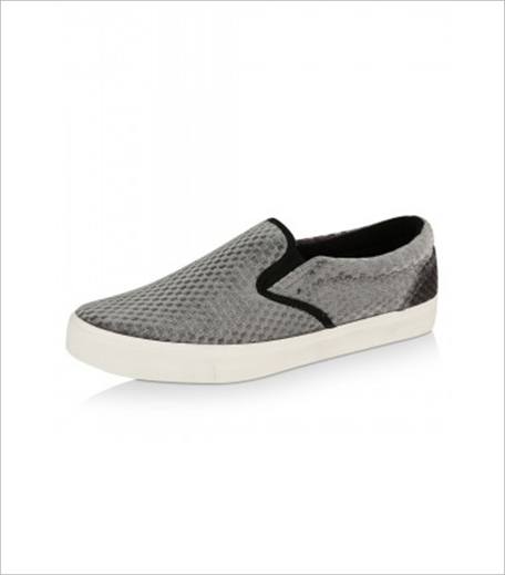 NEW LOOK Velvet Grid Detail Skater Shoes Koovs_Hauterfly