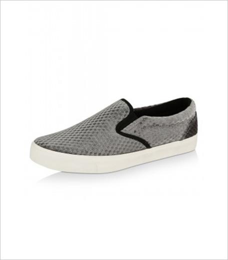NEW LOOK Velvet Grid Detail Skater Shoes Koovs_Hauterfly