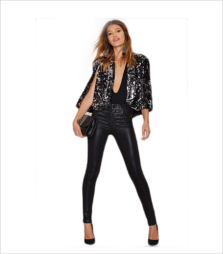 Nasty Gal Nasty Gal Speaking Sequins Cape Blazer_Hauterfly