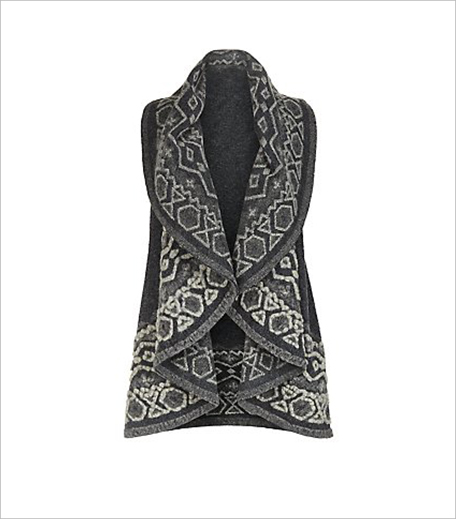 New Look Mela Grey Abstract Print Gilet_Hauterfly