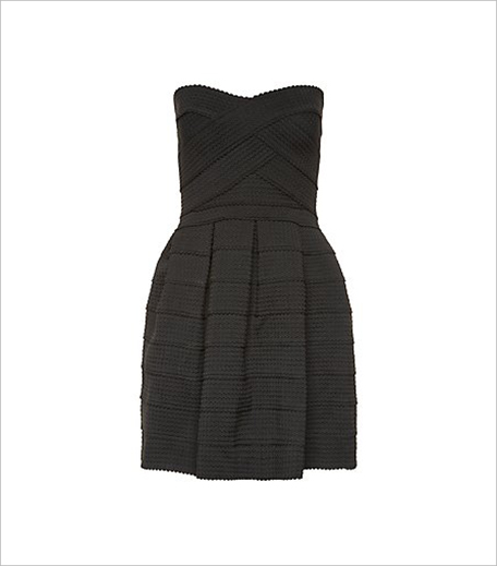 New look Petite Black Bandeau Bandaged Skater Dress_Hauterfly