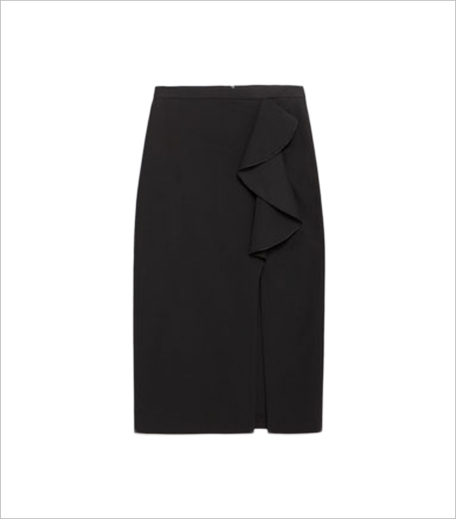 PENCIL SKIRT WITH RUFFLE_Hauterfly