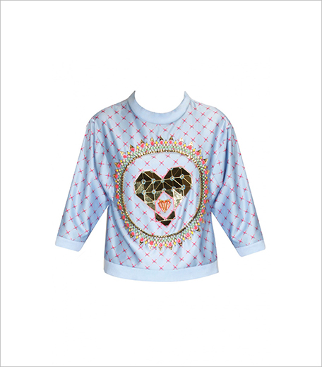 Papa Dont Preach Powder Blue Heart Embellished Sweatshirt_Hauterfly