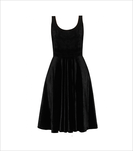 Pernia Popup Shop Neha Taneja Black velvet bow circle dress_Hauterfly