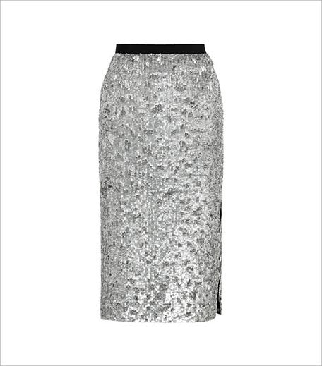 SR Store Silver Sequined Split Skirt_Hauterfly