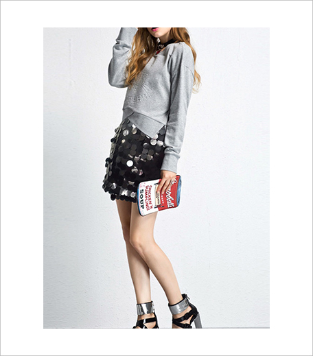 SR Store Women Sequined A-Line Black Skirt_Hauterfly