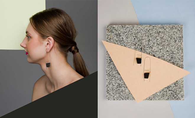 The Olio Store Trapezoid earrings_Hauterfly