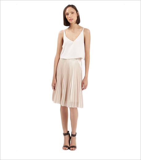 Topshop Foil Pleated Midi Skirt_Hauterfly