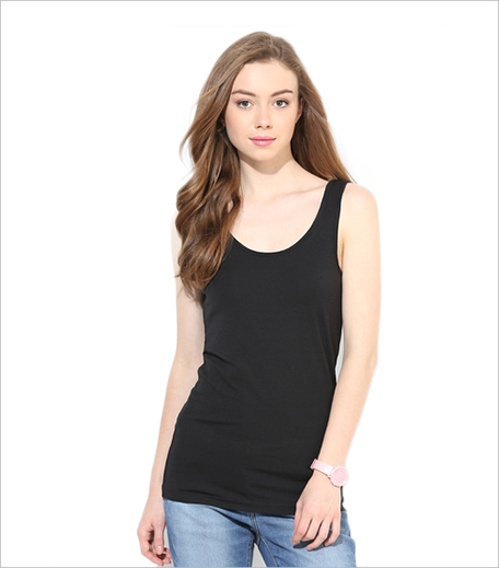 Vero Moda Black Solid Tank Top Jabong 1_Hauterfly