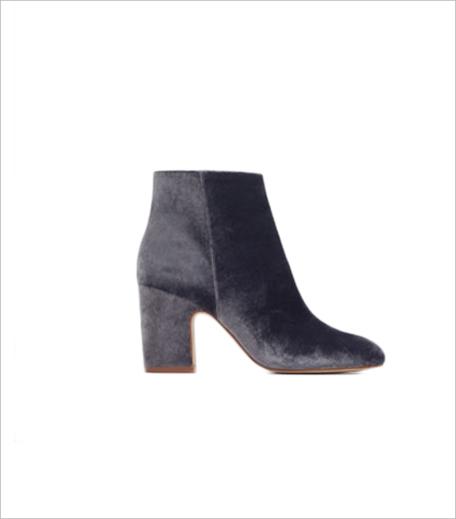 Zara HIGH HEEL VELVET ANKLE BOOTS_Hauterfly
