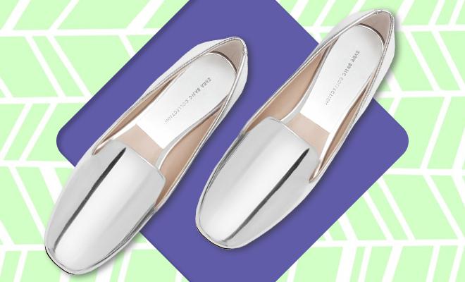Zara Laminated Flat Shoes Lead image_Hauterfly
