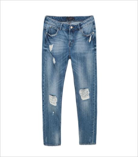 Zara ripped boyfriend jeans Hauterfly