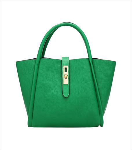 Zooomberg Green Twist Lock PU Shoulder Bag_Hauterfly