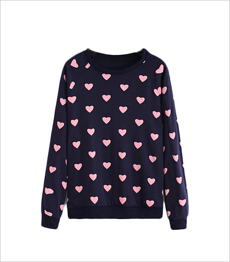 Zooomberg Round Neck Heart Print Navy 1 Sweatshirt_Hauterfly