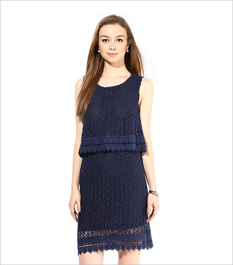 Alia Bhatt For Jabong Chemical Lace Fit & Flare Navy Dress_Hauterfly