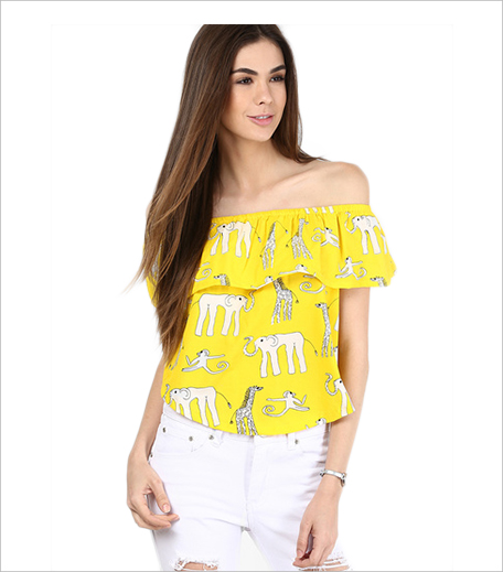 Alia Bhatt For Jabong Yellow Crop Top_Hauterfly