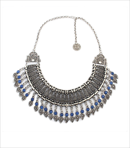 Fancy Pants Store Blue Leaf Necklace_Hauterfly