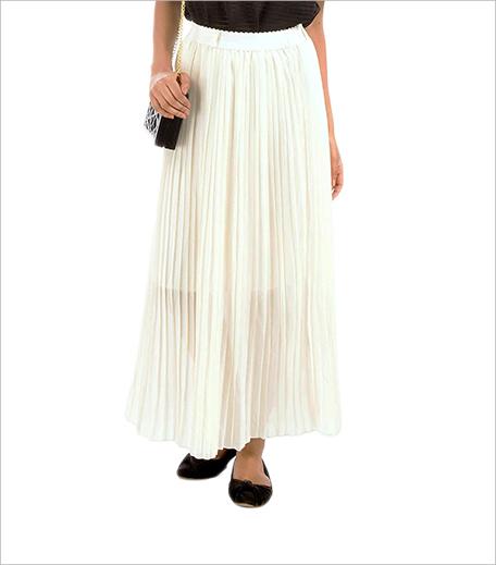 Fashion Affair CREAM PLEATED MAXI SKIRT_Hauterfly
