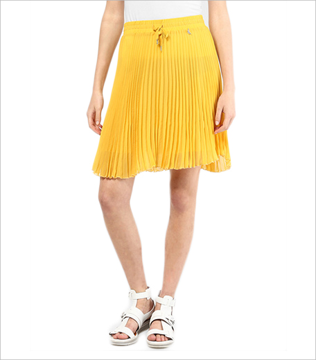 Gas Yellow Flared Skirt_Hauterfly