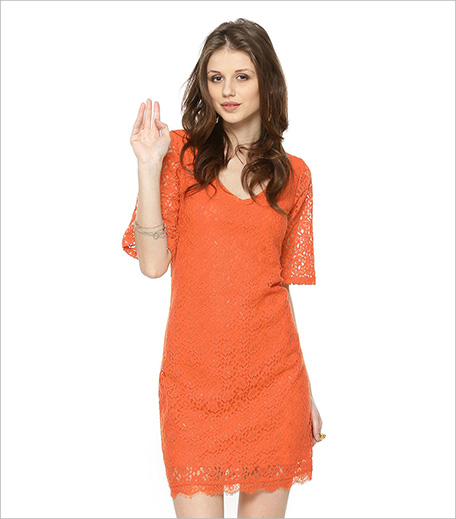 Koovs Scallop Hem Lace Swing Dress In The Style Of Jennifer Lopez_Hauterfly