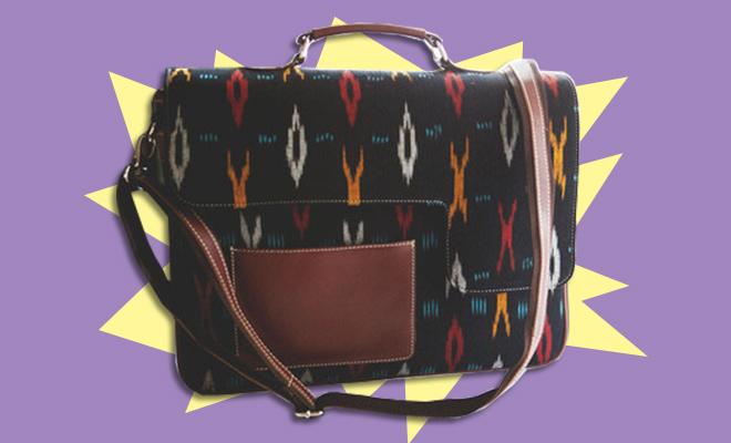 Leather Ikat Laptop Bag Postbox_Simi Editors Pick_hauterfly