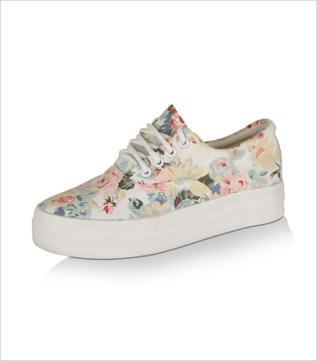 MY FOOT Floral Printed Plimsolls From Koovs_Hauterfly