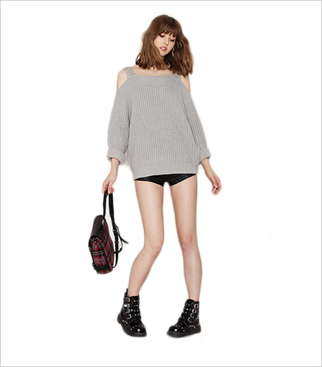 Nasty Gal Shrug it Off Knit Sweater_Hauterfly