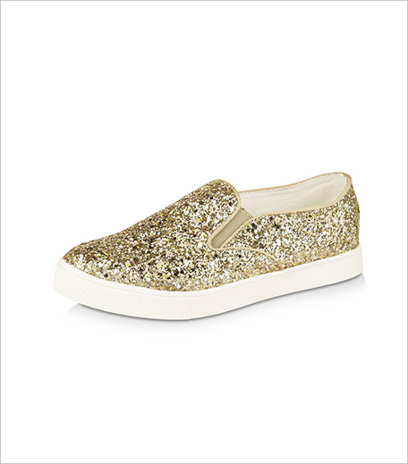 New Look All-over Glitter Slip On Shoes From Koovs_Hauterfly