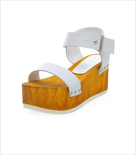 New Look White Leather Wooden Flatform Sandals_Hauterfly