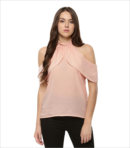 OLIV Flounce Bardot High Neck Top_Hauterfly