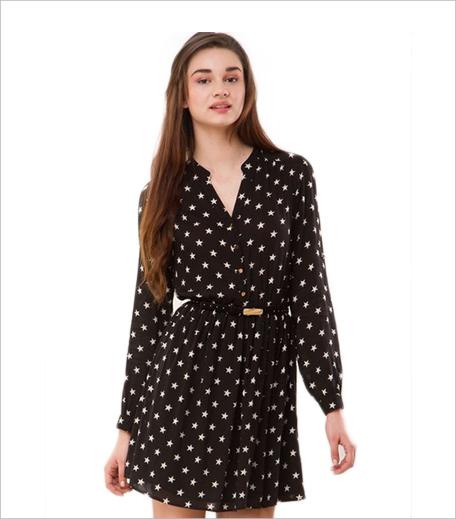 Oasis Star Print Dress_Hauterfly