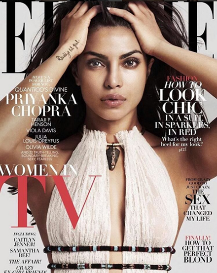 Priyanka Chopra in Elle USA Feb 2016 Cover_Hauterfly