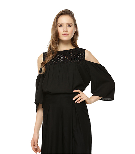 SBUYS Black Lace Cold Shoulder Top_Hauterfly