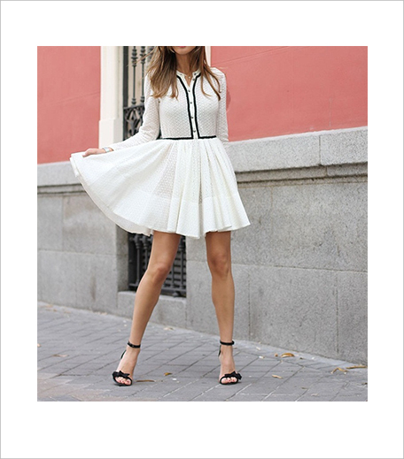 SR Store White Eyelet Skater Dress With Contrast Trims 4_Hauterfly