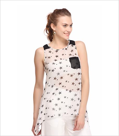 Shop Nineteen Assymetric Star Print Top_Hauterfly