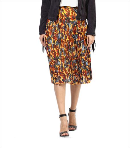 Topshop Daisy Print Pleated Midi Skirt_Hauterfly