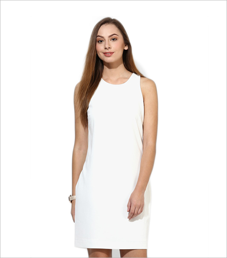 Vero Moda White Colored Solid Bodycon Dress_Hauterfly