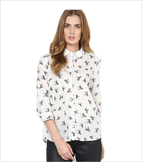 Vero Moda White Printed Shirt_Hauterfly