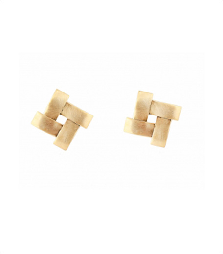 Youshine Crossover Cuts Golden Stud Earrings_Hauterfly