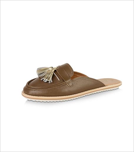 ZEBBA Tassel Detail Leather Flat Shoes_Koovs