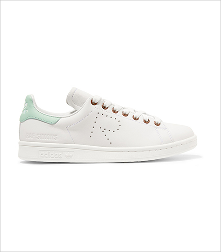 Adidas Originals + Raf Simons Stan Smith perforated leather sneakers_Hauterfly