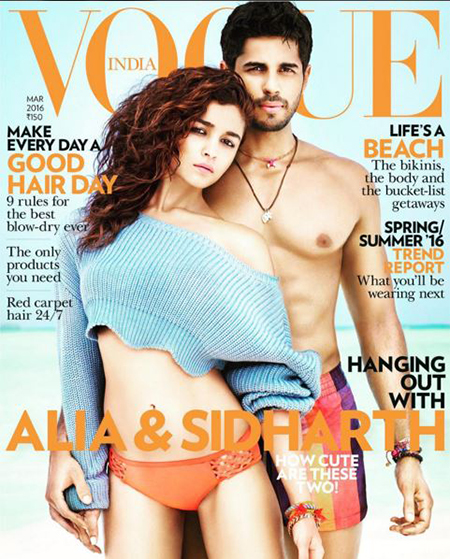 Alia Bhatt & Siddharth Malhotra On Vogue India March Cover_Hauterfly