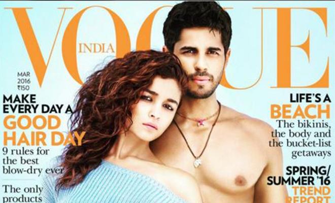 Alia Bhatt & Siddharth Malhotra On Vogue India March Lead_Hauterfly