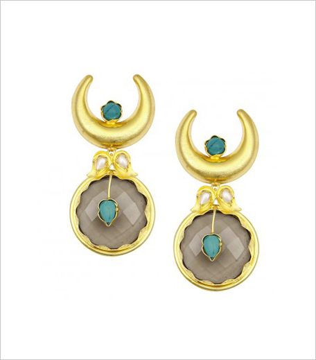 Bansri Gold Plated Half Moon Earrings in post_Hauterfly