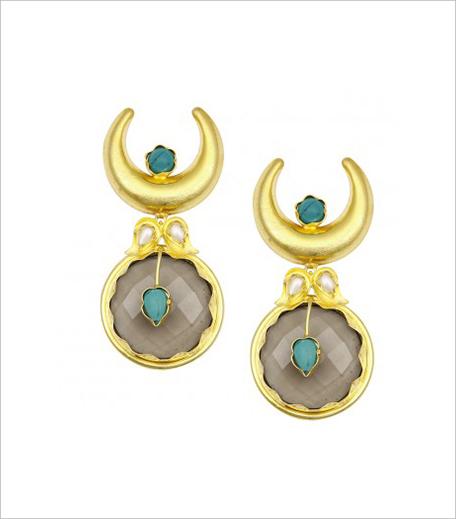 Bansri Gold Plated Half Moon Earrings in post_Hauterfly