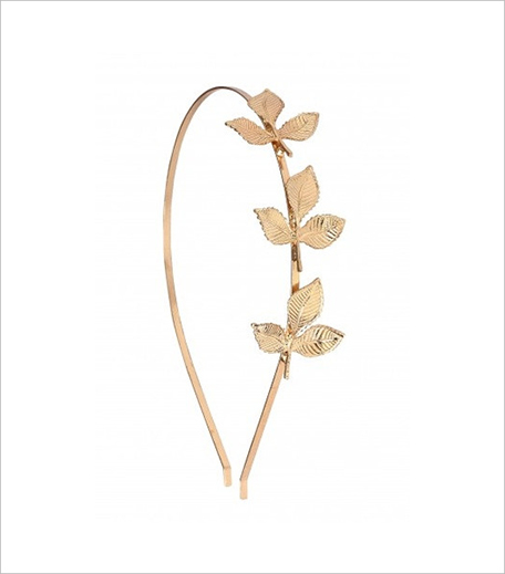Bauble Love Gold Foliage Hair Band_Hauterfly
