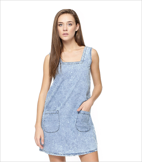 Blue Saint Pinafore Dress With Pockets_Hauterfly
